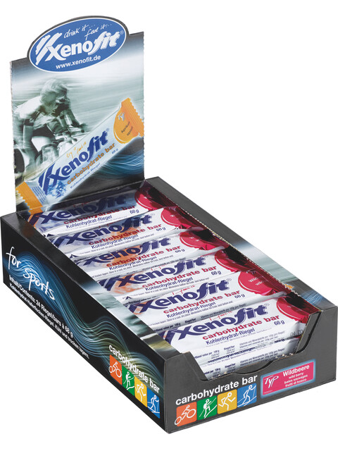 Xenofit Carbohydrate Bar Box Wildbeere 24 x 68g